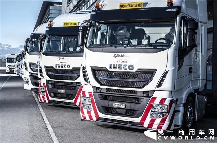 F1车队向来对物流运输要求极高,只有安全性和可靠性极为出色的运输车辆才能符合其要求。日前,依维柯成为了阿尔法·罗密欧竞速F1车队的官方运输合作伙伴,并于3月20日在瑞士欣维尔向其正式交付了12台Stralis卡车和1台Daily厢式货车。
